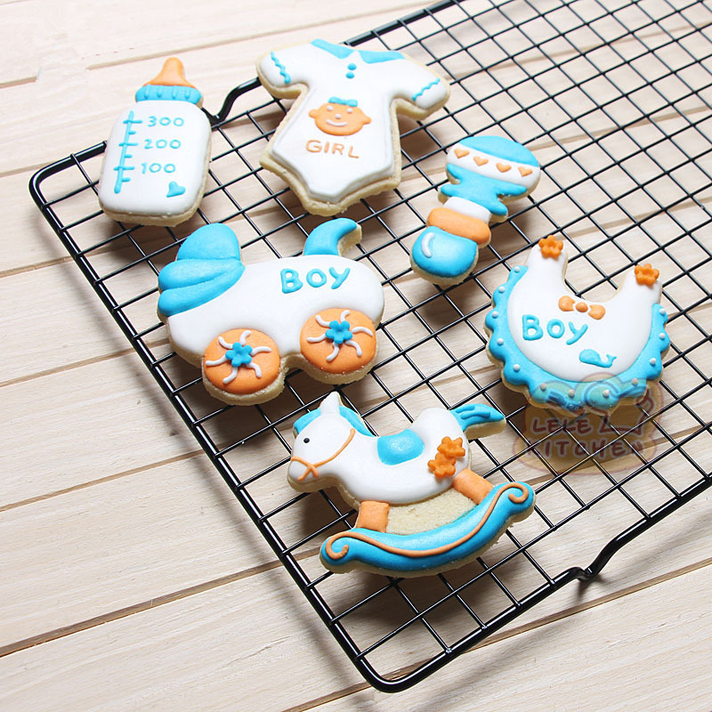 Metal Stainless Steel of Baby Series Feeding Bottle Bibs Stroller Nipple Clothing Cookie Cutters Fondant Biscuits Tools