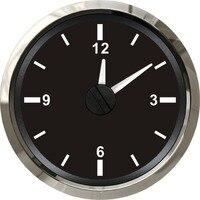 1pc 52mm Clock Gauges Clock Meters 12v/24v Time Gauges Time Meters Suitable for Auto Boat Motor Home Black Color