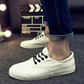 Nueva Primavera/Verano de Los Hombres Zapatos de Cuero de La Pu Hombres Zapatos Casuales de La Moda bajo Blanco Plana Zapatos de Los Hombres Suaves Mocasines Resbalón en los Zapatos Hombre