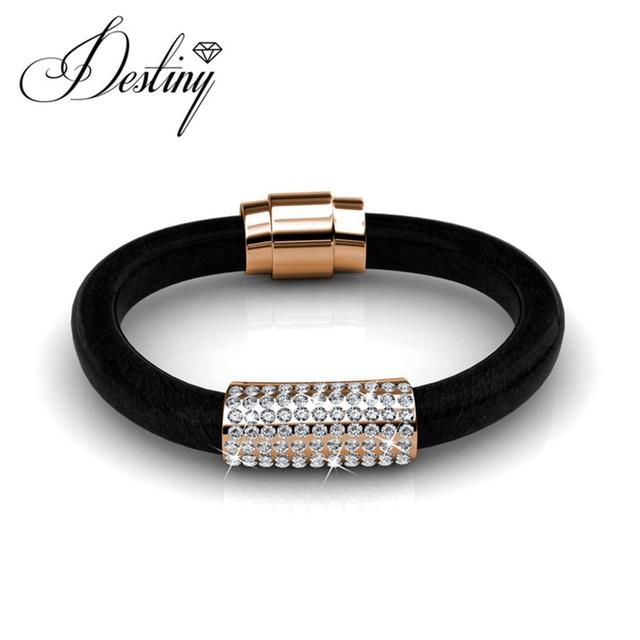 1e3560c67 Destiny Jewellery Embellished with crystals from Swarovski bracelet Luxx leather  bracelets & bangles DB0070
