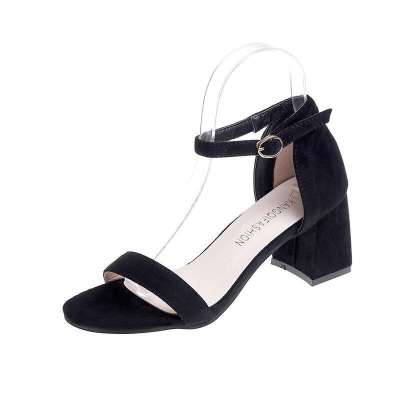 Summer fashion Concise high heels women roman sandals elegant sexy peep toe block heels ladies gladiator shoes big size 35-40 aneikeh summer women sandals pumps shoes peep toe sexy high heels gladiator sandals women slingback ankle boots size 35 40