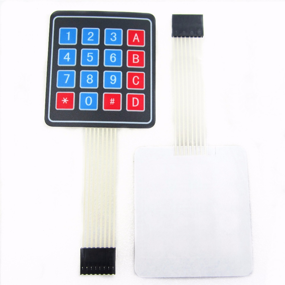 100pcs lot 4 4 4x4 Matrix Array Keyboard 16 Key Membrane Switch Keypad For DIY Starter