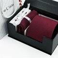 Nueva Moda De Lujo Gemelos Pañuelo Pone Corbatas Corbata Hombre 100% Corbata de Seda Para Hombres Gentleman Regalo Accesorios