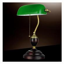 Retro Table Lights Emerald Green Glass Power Bank Office Desk Lamp Red Wood Vintage Reading Light Student Lampe E27 Book Lamps