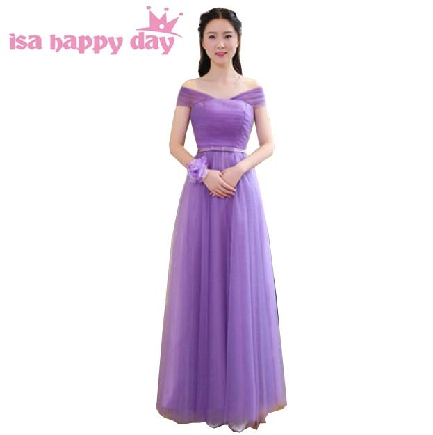 sleeveless deep purple bridesmaid pretty plus size corset maid dresses women bridemaid dress for wedding guests H3821