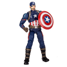 Marvel Avengers Iron Man Black Panther Hawkeye Captain America Vision Black Widow PVC Action Figure Collectible Model Toy Boxed