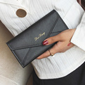 LUOQI Long Clutch Tirfold Purse Designer Lady Wallet Women High Capacity Luxury Brand Fashion Envelope Card Holder Money Bags