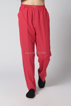 Shanghai Story Chinese Traditional Trousers Men's Chinese Style Clothing tai chi Pants KungFu pants kung fu taiji clothing Red