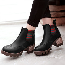 plus size 34-43 autumn winter Fashion women Ankle Boots Casual warm snow boots breathable Europe star fashion Platform Shoes