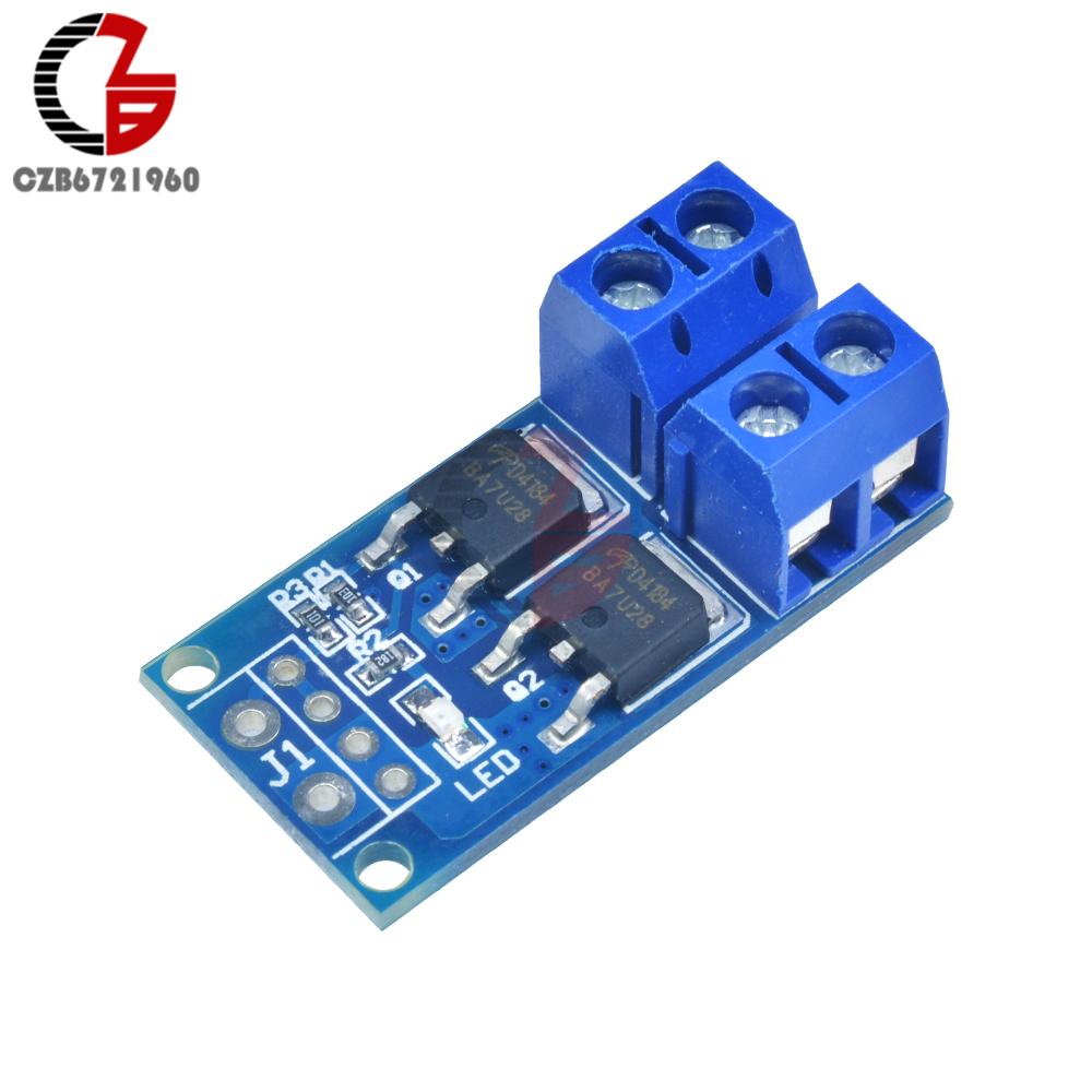 High Power Wide Voltage DC 5V-36V 15A 400W Dual MOS FET Trigger Switch Drive Module PWM Regulator Control Panel
