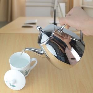 Image 3 - Sanqia נירוסטה תה סיר עם תה מסננת קומקום עם infuser תה סטי teaware תה קומקום infuser קומקום עבור אינדוקציה