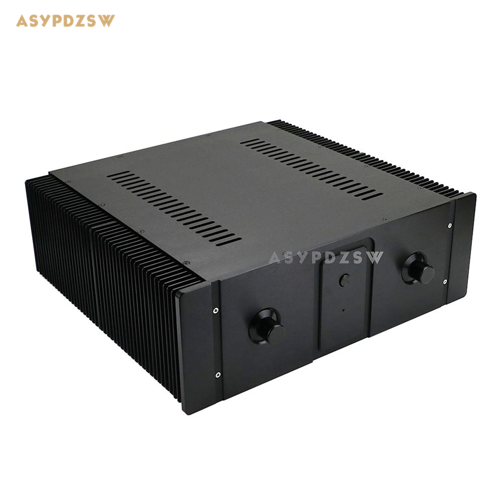 Big radiator class A aluminum amplifier chassis DIY Enclosure box with handle