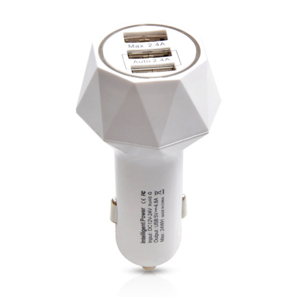 Автомобильное зарядное устройство 3USB автомобильное быстрое зарядное устройство авто зарядное устройство телефон адаптер смарт-панель gps навигатор - Название цвета: White