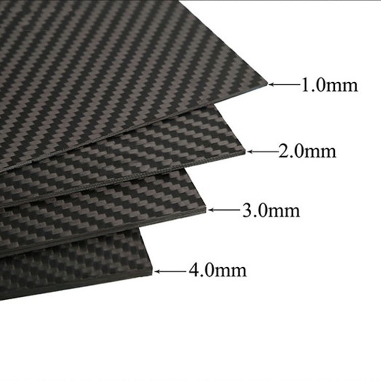 2.0mm x 400mm x 500mm 100% Carbon Fiber Plate , carbon fiber sheet, carbon fiber panel ,glossy surface 1sheet matte surface 3k 100% carbon fiber plate sheet 2mm thickness