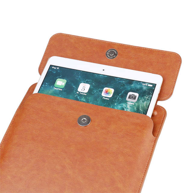buy popular 11fbd c68ba New PU Leather case waterproof Sleeve Bag for Apple ipad air 1 2 5 6 2017  2018 pro 11 10.5 9.7 inch with Pencil Holder cover