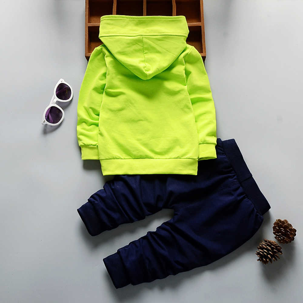 Printemps automne bébé vêtements ensembles enfants garçons survêtements enfants marque Sport costumes enfants à manches longues chemise + pantalon 2 pièces ensemble