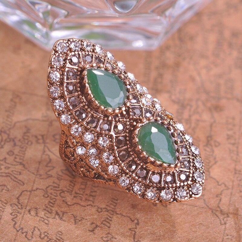 Blu e Turkey Royal Design Green Vintage Ring Turkish Women