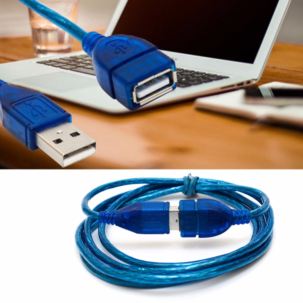 Data Charging Cable Cord Adapter  mini USB 2.0  Male To Female Extension Cable Data Transfer Sync Cable length 1M/1.5M/2M/3M-in USB Cables from Consumer Electronics