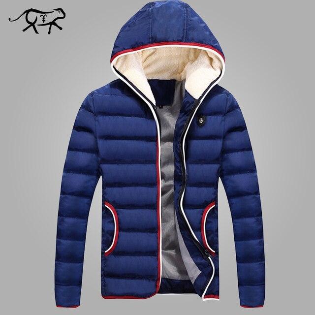 New 2017 Spring Winter Jacket Men Brand High Quality Down Cotton Men Clothes Fashion Warm Mens Jackets Coats Black Plus Size 4XL