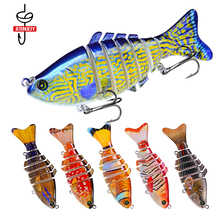 Jointed Fishing Lure Bait Painted Plastic Hard Lures Multi-section Fish Bionic 10cm/15.6g