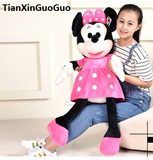 huge 125 cm pink Minnie plush toy lovely doll hugging pillow, birthday gift b0899 big new creative plush peacock toy lovely beautiful peacock pillow pink doll gift about 80cm