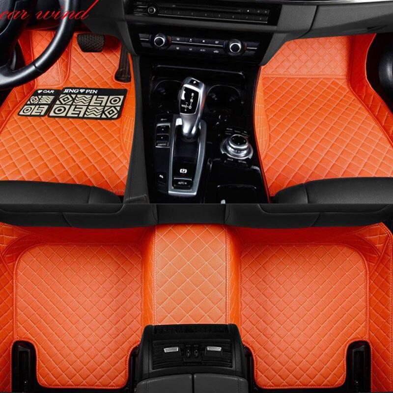 Car Wind Auto car floor Foot mat For fiat 500x freemont palio 500l albea panda car accessories waterproof carpet rugs