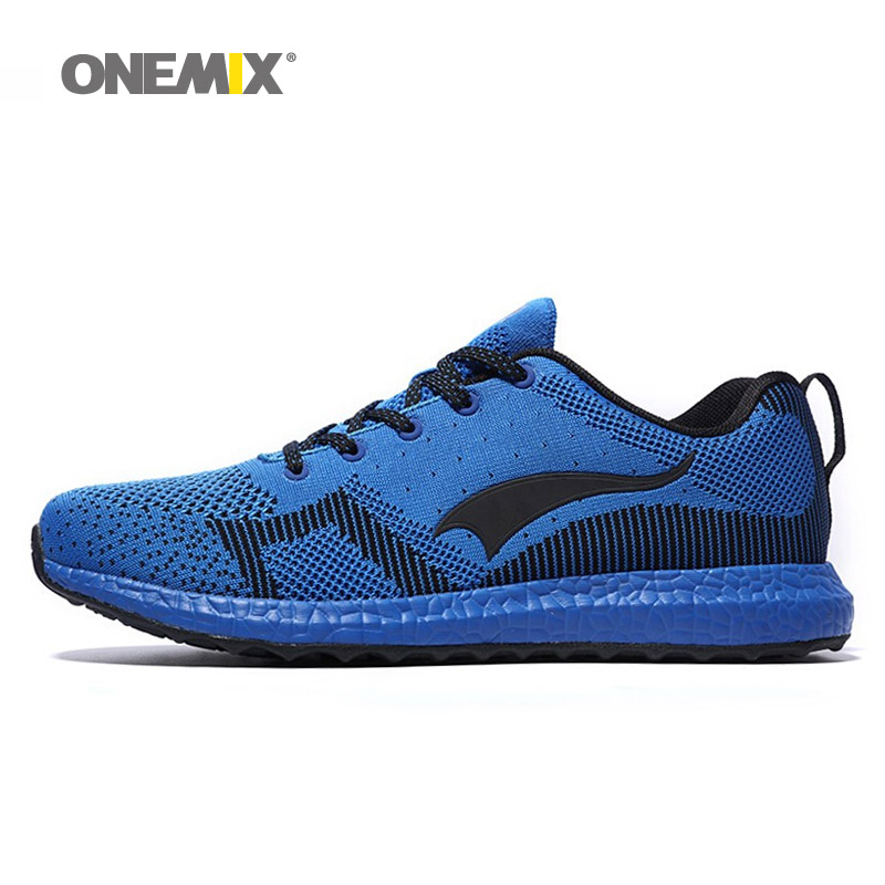ONEMIX Running Shoes for Man Lightweight Breathable Air Cushioning Men Lace Up Sports Shoes with 6 Color Men Sneakers 1128 2017 new style running shoes man cushioning breathable cool textile sneakers red black men light sports shoes