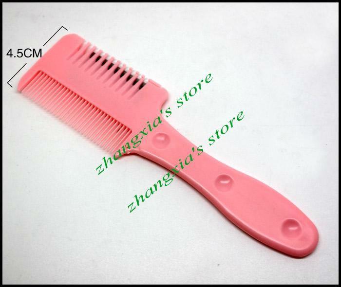 4 шт/лот резец для волос-Бритва расческа для волос триммер, Бритва расческа для волос домашняя используется, 3 цвета смешанные, LZS0104