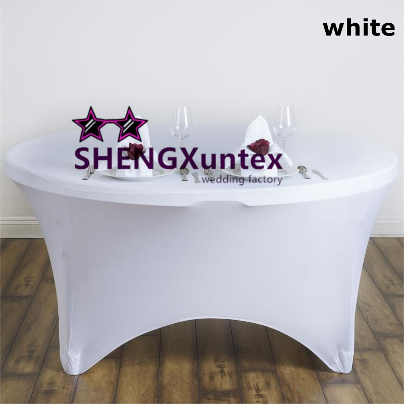 White Color Lyca Spandex Table Cover Wedding Cloth