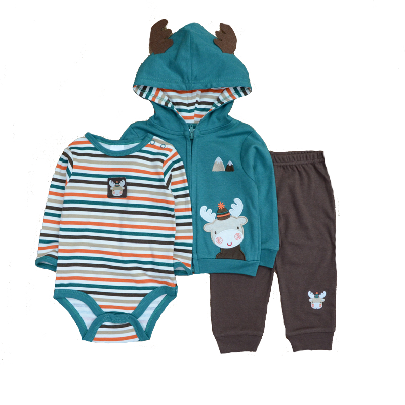 Boys' Baby Clothing Mother & Kids Just Baby Clothing Sets Newborn Baby Boy/girl Clothes Cotton Long Sleeve Cute Love O-neck Unisex Infant Wearing Rompers Set Boutique Long Performance Life