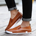 British Style New Fashion Men's Leather Casual Shoes Black Brown Oxford Shoes For Men Flats Wedding Shoes SMYXP-E0048