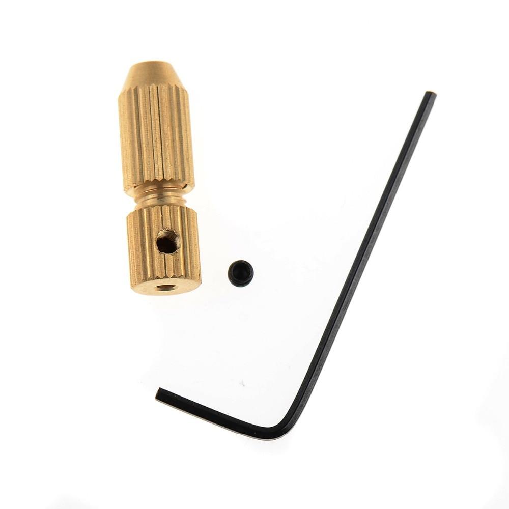 1 PC 2 2.3 3.17mm Micro Drill Bit Clamp Fixture Brass Electric Motor Shaft Chuck For 0.7mm-3.2mm mini Drill multi tool VE523P50