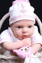 Real touch 47cm Silicone Reborn Lifelike Bonecas Baby newborn realistic blue eyes bebe reborn dolls babies toy for gilrs gift