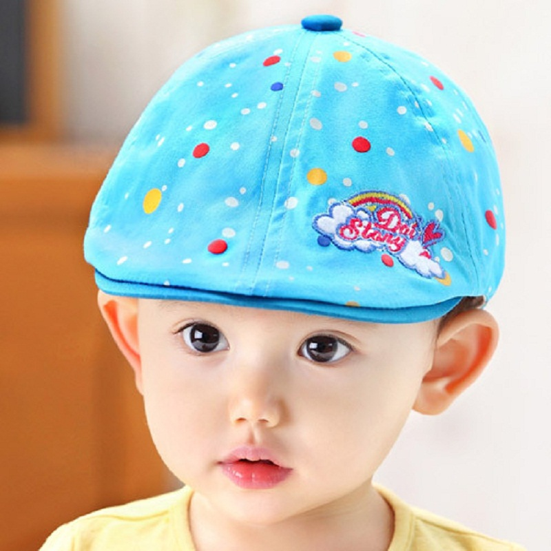 67ac48b0f9e45 1Set Free Shipping Spring Child Beret Caps Newborn Baby Boy Cap Cute Hat  Baby Girl Boy Toddler Cotton Beret Hats 8 Colors C781-in Hats   Caps from  Mother ...