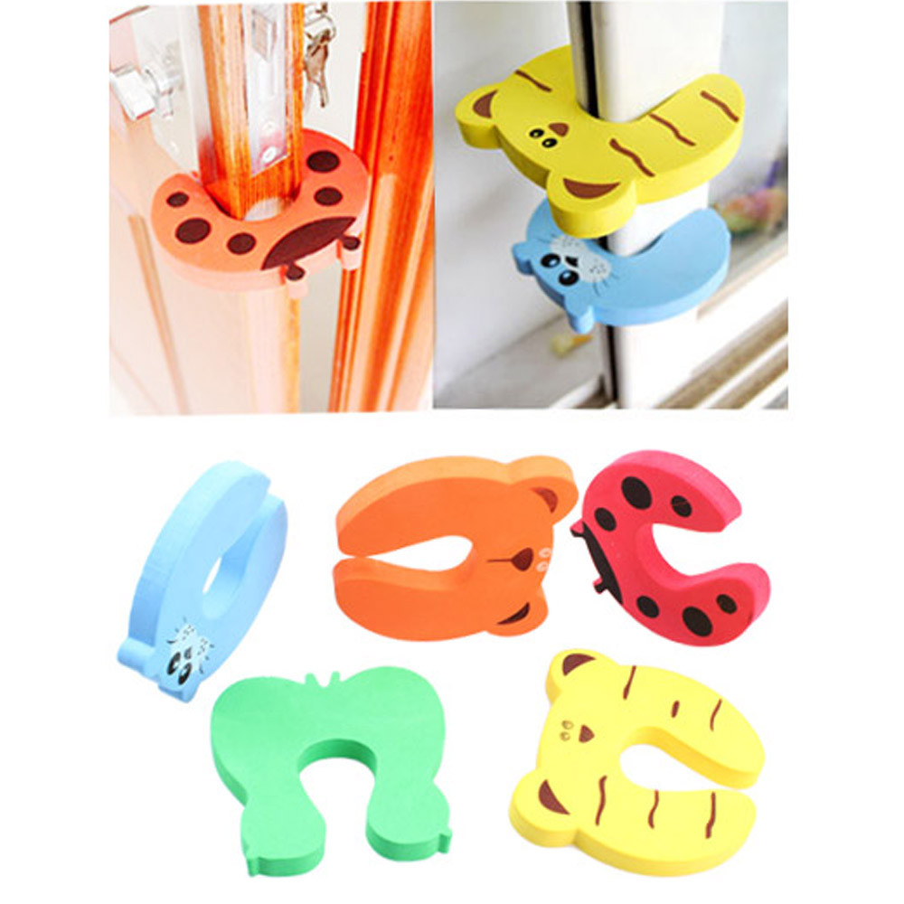 цена на 4pcs Child Baby Safety Products Cartoon Animal Stop Edge Corner for Child Guards Door Stopper Holder Protection from Children