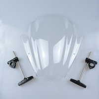 Universal Clear Motorcycle Street Bike Windshield Windscreen 7 8 1 Handlebar Mount For Harley Honda BMW