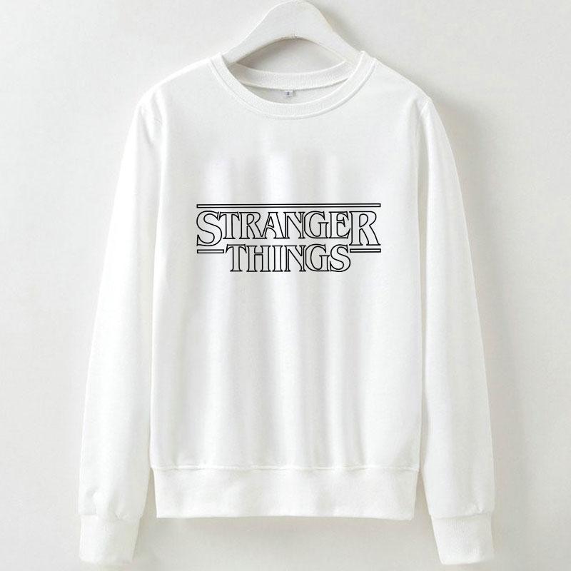 Kawaii Fashion 2019 Kpop Sweatshirt Women Streetwear Stranger Things Printed Letter Casual Round Neck White Hoodies Clothes in Hoodies amp Sweatshirts from Women 39 s Clothing