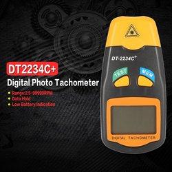 DT2234C + ręczny LCD cyfrowy Mini bezdotykowy laserowy tachometr z aparatem RPM prędkościomierz miernik prędkościomierza 2.5 ~ 99999RPM|Przyrządy do pomiaru prędkości|Narzędzia -