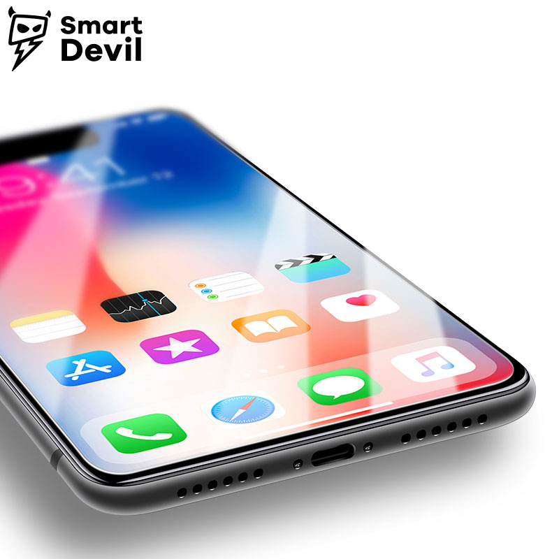 SmartDevil 9H tempered glass for apple iphone X mobile phone protective film smartphone screen protector cover Toughened Glass in Phone Screen Protectors from Cellphones Telecommunications