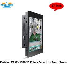 OEM Все в Одном Pc с 2 ММ Ультра Тонкий 17 Дюймов 10 Очки Емкостный Сенсорный Экран Intel J1900 Quad Core