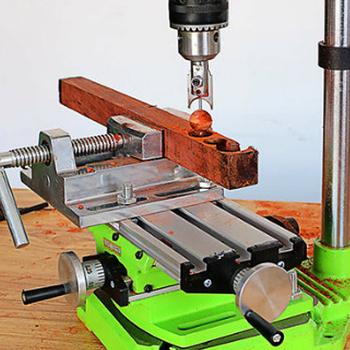Miniaturowa precyzyjna wielofunkcyjna frezarka wiertarka stołowa Vise Fixture stół roboczy X regulacja osi Y stół współrzędnych tanie i dobre opinie meterk work bench