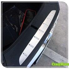 Для Tesla модель X- нержавеющая Передняя защитная крышка бампера для автомобиля Стайлинг