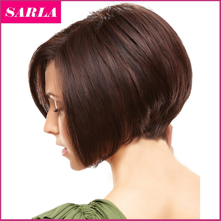 1PC Women Short Bobo Wigs Straight Synthetic Kanekalon Hair Highlighted Heat Resistant Natural U Part Wig