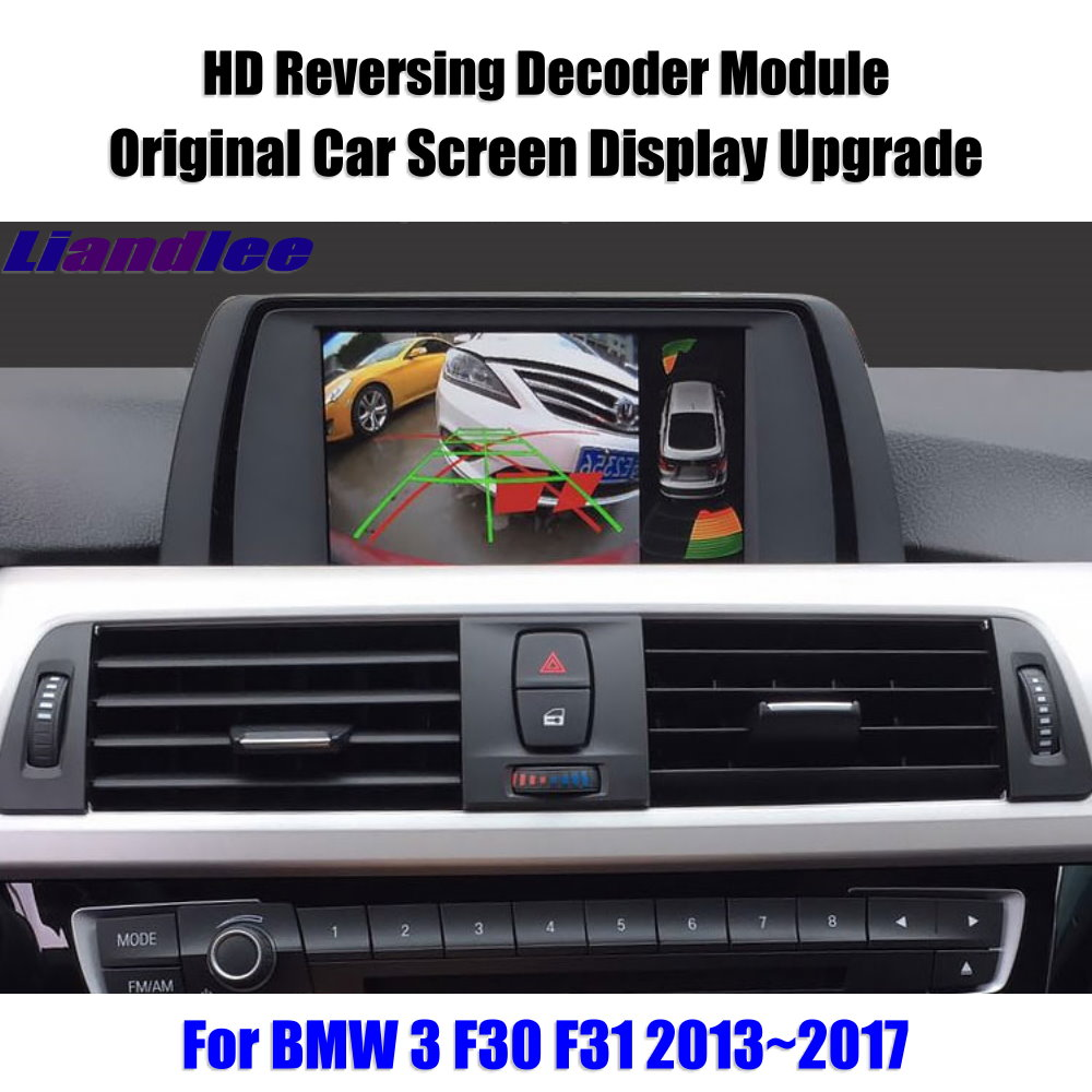 Liandlee For BMW 3 F30 F31 2013 2017 HD Decoder Box Player Rear Reverse Parking Camera