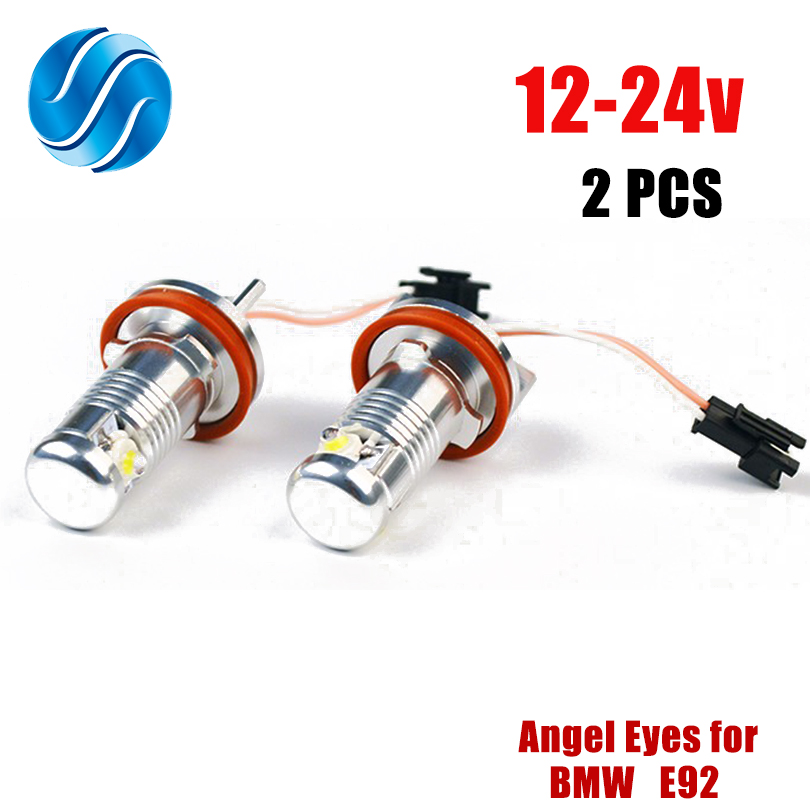 LED Angel Eyes Lights,H8 LED Halo Ring Light Bulbs Daytime Running Light 12W Xenon White with CE Mark CANBUS for E82 E87 E90 E91 E92 M3 E93 E60 E61 E63 E70 X5 E71 X6 E89 Z4