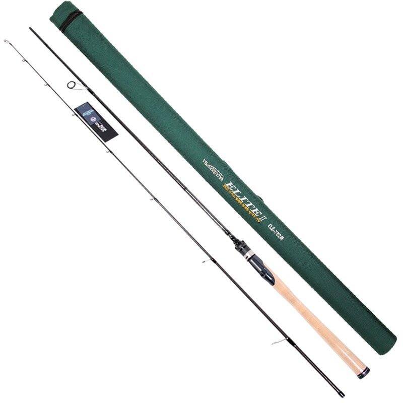 Caña de pescar giratoria Tsurinoya 2,13 m 2 secciones M Peso del señuelo de potencia 5-21g acción de la varilla de carbono: rápido FUJI accesorios caña de pescar