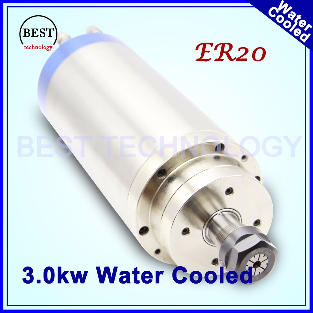 380v 3kw ER20 cnc spindle motor wood working 3.0kw Water Cooled Spindle Motor 4 bearings for engraving milling 100x250mm high quality 220v 3 kw cnc air cooled square spindle motor er20 4 beaings for cnc wood working engraving milling machine