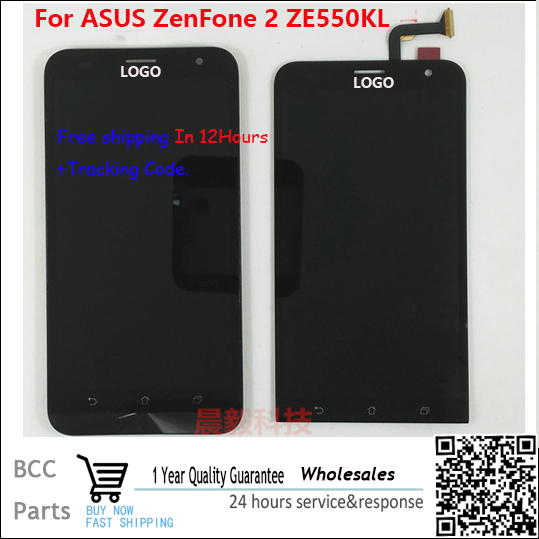 A+++ Original with Logo For 5.5 Asus ZenFone 2 Laser ZE550KL LCD display with Touch screen Digitizer Panel assembly with frame