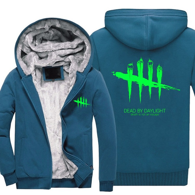 Hot Game Dead by Daylight Hoodies Hip Hop for Mn Winter Warm Sweatshirt Jacket Winter Streetwear Fleece Thicken Hoodie Coat