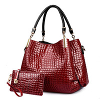 2015 New Style European And American Fashion Crocodile Handbag Shoulder Bag Explosion Models Picture Pack
